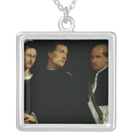 Concierto interrumpido, c.1512 colgante cuadrado
