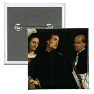 Concierto interrumpido, c.1512 pin cuadrada 5 cm