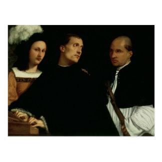 Concierto interrumpido, c.1512 tarjeta postal