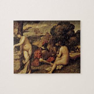 Concierto pastoral de Giorgione- (champêtre de Fêt Puzzle Con Fotos