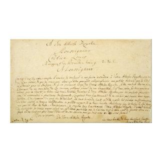 Conciertos de Brandenburger del esmero manuscrito  Impresiones En Lienzo Estiradas