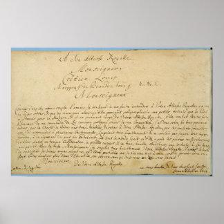 Conciertos de Brandenburger del esmero manuscrito  Poster