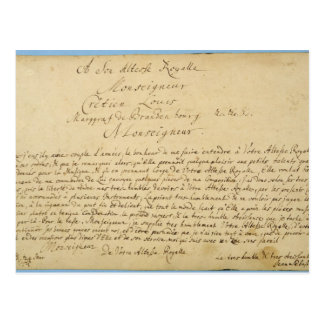 Conciertos de Brandenburger del esmero manuscrito Postal