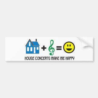 Conciertos de la casa pegatina de parachoque