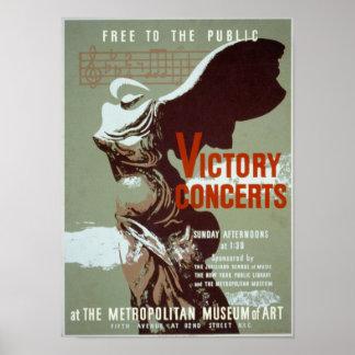 Conciertos de la victoria póster