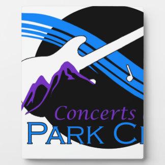 conciertos en Park City Placas