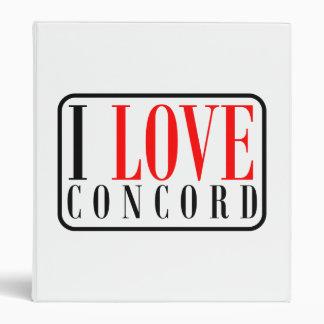 Concord, Alabama City Design 3 Ring Binder