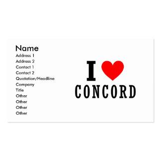 Concord, Alabama City Design Business Card Templates