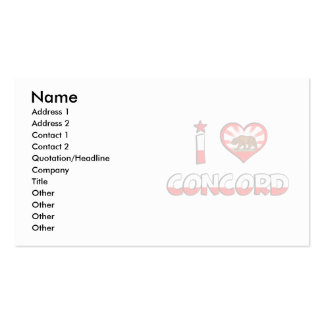 Concord, CA Business Card Templates