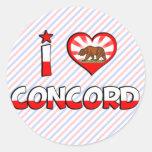 Concord, CA Classic Round Sticker