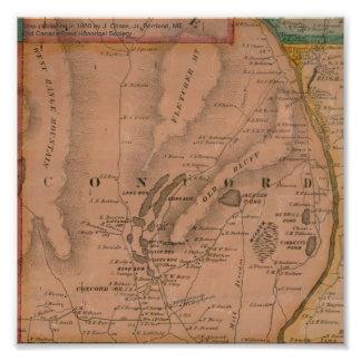Concord Maine Map - 1860 Art Photo