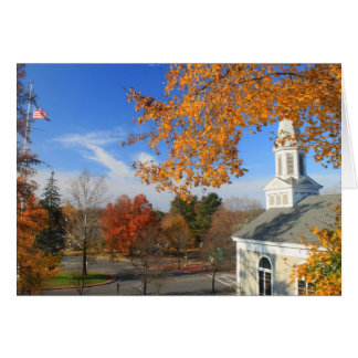 Concord Massachusetts in Autumn Greeting Card