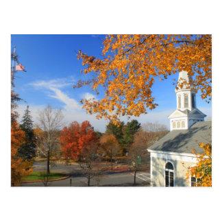 Concord Massachusetts in Autumn Postcard