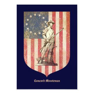Concord Minuteman 5x7 Paper Invitation Card