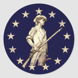 Concord Minuteman Classic Round Sticker