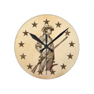 Concord Minuteman Round Wallclocks