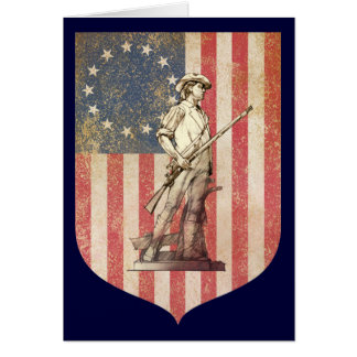 Concord Minuteman Greeting Card