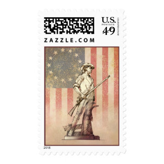 Concord Minuteman Postage