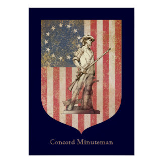Concord Minuteman Poster