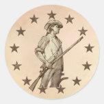 Concord Minuteman Round Sticker