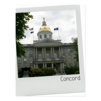 Concord, New Hampshire Capitol Building gold dome Postcard