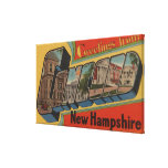 Concord, New Hampshire - Large Letter Scenes Gallery Wrap Canvas