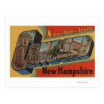 Concord, New Hampshire - Large Letter Scenes Postcard