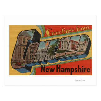 Concord, New Hampshire - Large Letter Scenes Postcard