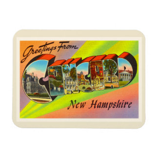 Concord New Hampshire NH Vintage Travel Souvenir Magnet