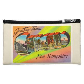 Concord New Hampshire NH Vintage Travel Souvenir Makeup Bag