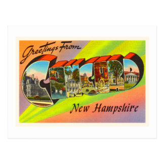 Concord New Hampshire NH Vintage Travel Souvenir Postcard