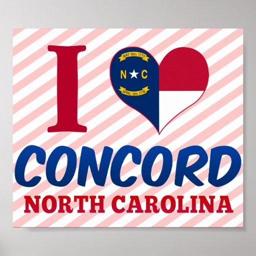 Concord, North Carolina Poster