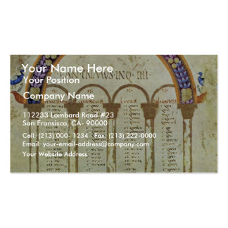 Concordance Tables Of Eusebius Of Ceasarea By Meis Business Cards