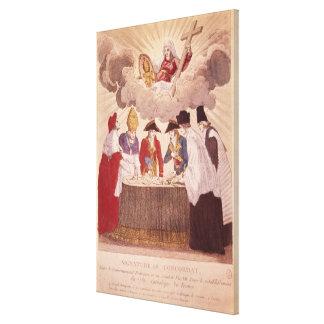 Concordat between Napoleon and Pope Pius VII Canvas Print