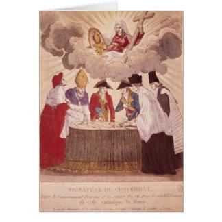 Concordato entre Napoleon y papa Pío VII Tarjeta De Felicitación