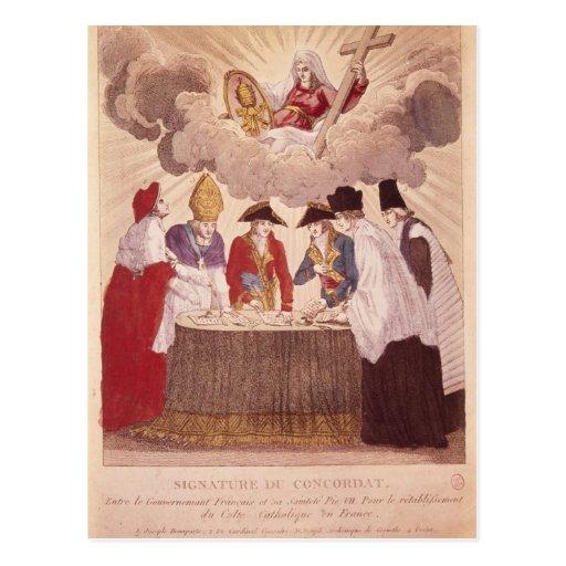 Concordato entre Napoleon y papa Pío VII Tarjeta Postal