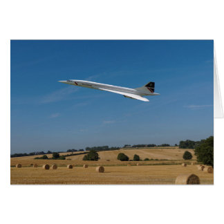 Concorde at Harvest Time Card