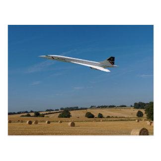 Concorde at Harvest Time Postcard
