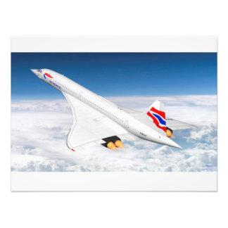 Concorde en la mucha altitud cojinete