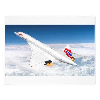 Concorde en la mucha altitud fotografías