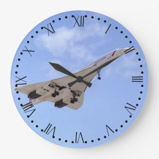 Concorde G-BOAF - Roman Dial Large Clock