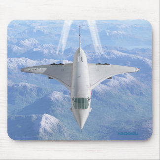 Concorde head on mouse pad