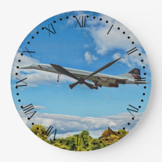 Concorde on Finals Roman dial Large Clock