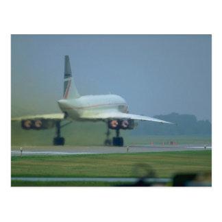 Concorde saca, dispositivo de poscombustión lleno postales