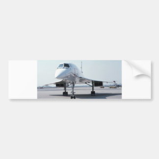 Concorde supersónico etiqueta de parachoque