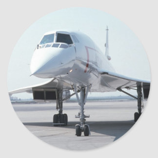 Concorde supersónico pegatina redonda
