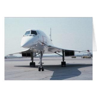 Concorde supersónico tarjeta de felicitación