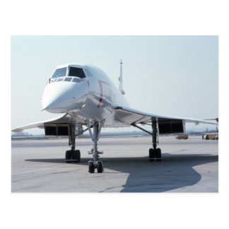Concorde supersónico tarjeta postal