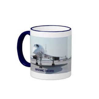 Concorde supersónico taza de dos colores