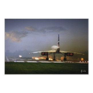 """""""Concorde Takeoff"""" Poster"""